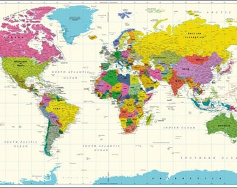 Vivid World Map