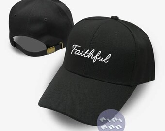 Faithful Dad Hat Embroidery  Baseball Cap Tumblr Pinterest Unisex Size