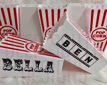 Birthday Party Decor, Movie Birthday Party, Circus Party Decor, Circus Party Favors, Movie Party Favors, Movie Party Decor, Popcorn Holders