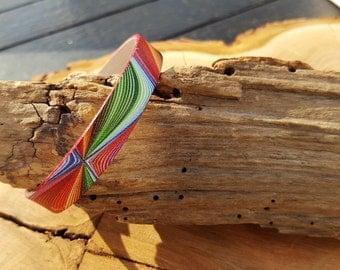 Leather Bracelet flat and colorful