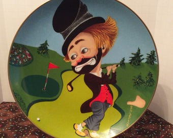 Vintage Freddie On The Green ~ Red Skelton Collectible Plate ~ 3588 of 10,000