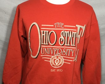 Vintage Ohio State University Buckeyes 1980's College Sweatshirt - vintage sweatshirt - sport - NCAA - football (XL)