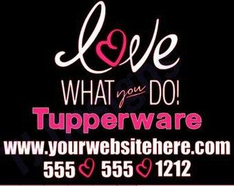 Tupperware car decal, tupperware decal