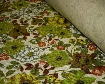 10 Yards Green Floral Vintage Upholstery