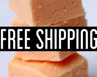 Free Shipping, Orange Creamsicle Fudge, Creamy Fudge