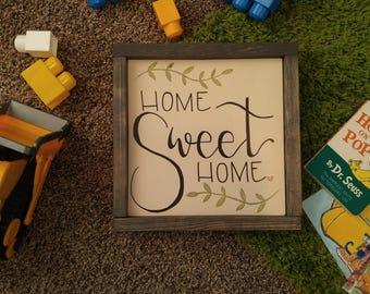 Home Sweet Home Wooden Framed Sign