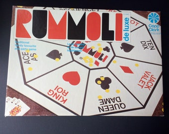 Vintage Rummoli Deluxe Party Game - traditional family favourite, poker and rummy classic 1940