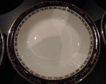 Alfred Meakin-blue of King - England-(6) soup bowls - Collection