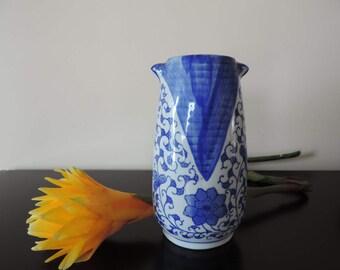 Vase - half - blue and white - China
