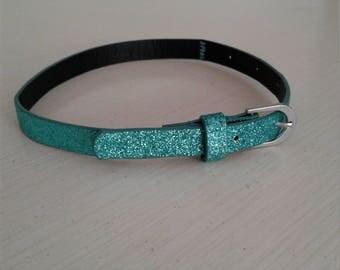 Glittery blue teal collar/choker