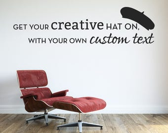 U.S. Customers - Custom Wall Decal - Create Your Own Custom Decal! Custom Typography Personalized Vinyl Quotes Text Stencil Art Gift #1