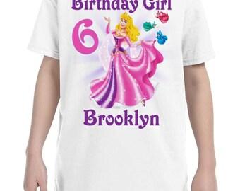 Aurora Sleeping Beauty Birthday Shirt Peronalized