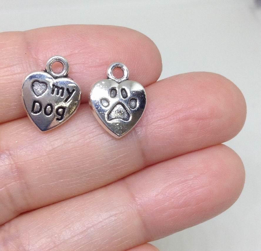 I Love My Dog Heart Charms Australia