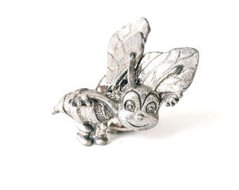 Vintage Pewter Sea Bee's Pin