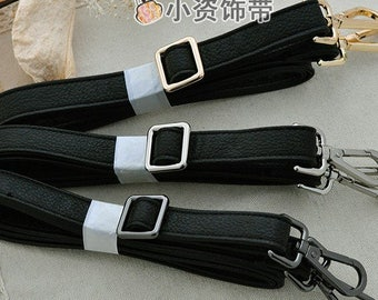 BLack PU leather Straps Cross body Replacement Straps