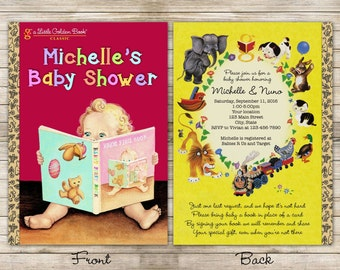 Little Books Baby Shower Digital Invitation