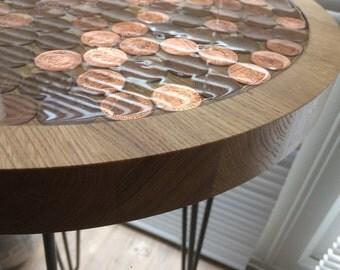 2p Oak Side Table