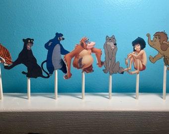 Jungle Book Cupcake Toppers / Jungle Book party decor