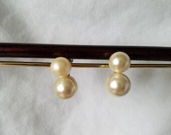 Pearl Earrings, Wedding Earrings, Formal Earrings, Vintage Earrings, Wedding Jewelry, Vintage Jewelry, Gold Earrings, Gold and Pearl Earring