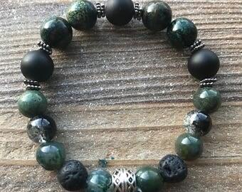 Men's beaded bracelet