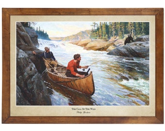 The Call of the Wild by Philip Goodwin; 24x36 inch print reproduced from a vintage painting