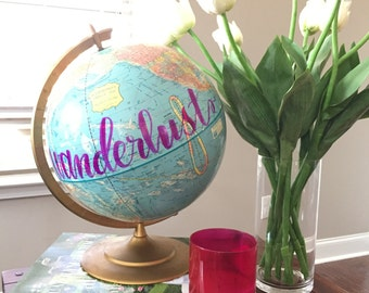 Wanderlust Glitter Globe