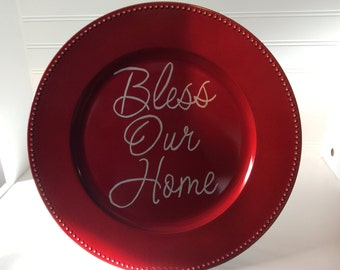 Bless Our Home Plate - decorative plate