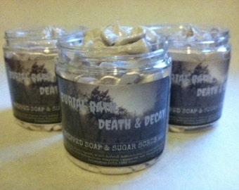 Burial Bath! Death & Decay Whipped Soap and Sugar Scrub. 8oz. Foaming Bath Whip.
