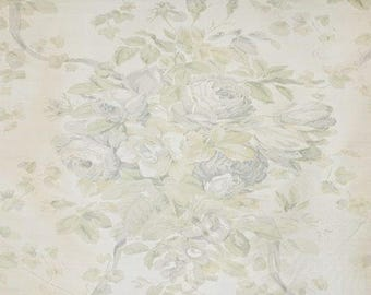Bennison Roses Silk Designer Fabric by the yard