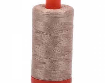 Aurifil Mako Cotton Thread Solid 50wt 1422yds Sand 1050-2326