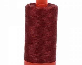 Aurifil Mako Cotton Thread Solid 50wt 1422yds Rust 1050-2355