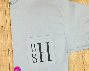 Guy's Monogrammed Pocket T-Shirt