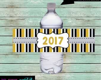 Printable New Year's Years Eve Party Favors Water Bottle Labels  ~ DIY ~ Instant Download