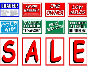 1:25 G scale model used car lot sale signs
