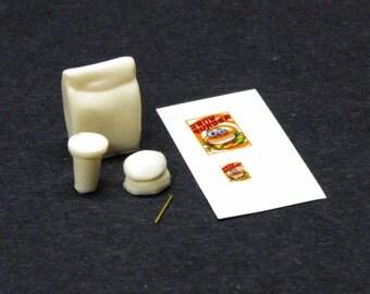 1:25 G scale model resin fast food bag hamburger drink sack cup burger meal