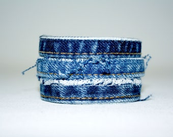 Bracelet Jean Upcycled three strands