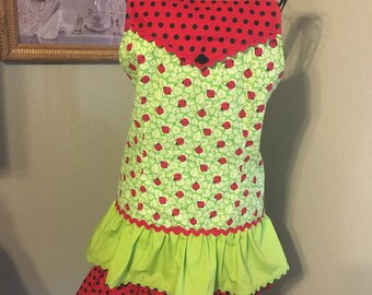 Ladybugs in Bloom kitchen apron