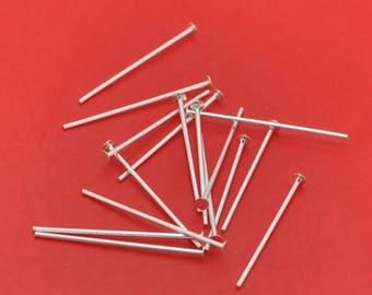 50pcs Silver Flat Head Pins 20mm Jewelry Making Needles