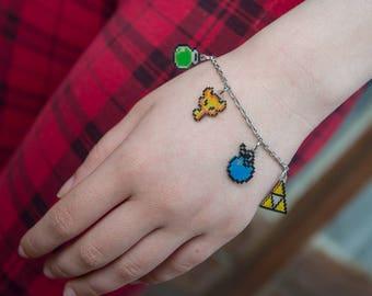 Legend of Zelda bracelet / / Zelda 3 Bracelet / / geeky Bracelet