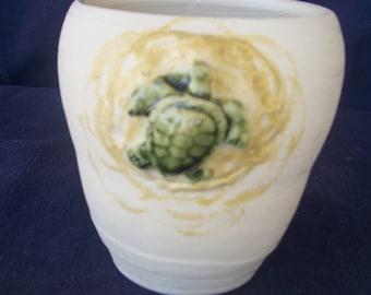 Small turtle vase