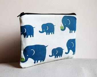 Blue Elephant Pencilcase / Pouch
