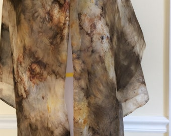 Eco Print / Silk/ Scarf / Wrap / Women / Gift