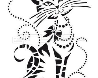 Funky She Cat 190 micron Mylar Stencil durable and sturdy- A5 - A4 - A3 *NEW* - Free UK P & P