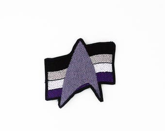 Star Trek Asexual Pride Patch, Star Trek Pride Patch, Asexual Pride Flag Patch, Iron on Patch, Sew on Patch, Pride Flag Pin