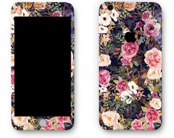 Vintage watercolor flower floral iPhone iPhone sticker skin iPhone decal sticker iPhone iPhone iPhone 7 6 iPhone 5 iPhone cover