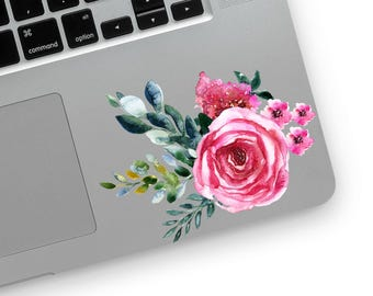 Vintage watercolor flowers floral laptop sticker MacBook sticker iPhone smartphone sticker decal vinyl decal