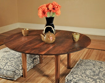 Chabudai low Japanese round dining - coffee table