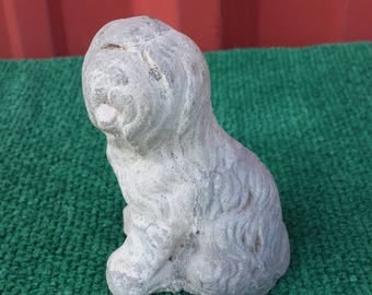 Vintage chalkware Old English Sheepdog