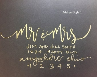 Modern Calligraphy Envelope Lettering: Front Address