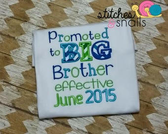 Big Brother To Be Embroidery Shirt